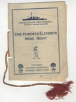 United States Ship Florida, One Hundred Eleventh Mess Night